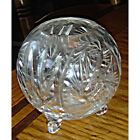 Vintage Contemporary 3 footed Crystal Glass Rose bowl