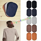 2Suede durable Leather Iron on Oval Elbow Knee Patches Repair Sewing Applique