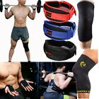 Weight Lifting Belts Gym Training Sport Knee Support Wraps Sleeves Fitness Set D