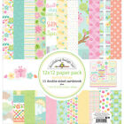 Doodlebug Double Sided Paper Pack 12X12 Spring Things