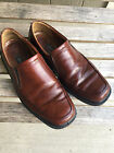 Mens ECCO Brown Leather Casual Slip On Shoes Loafers size 43 9 US