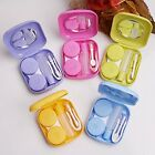 2SETS Pocket Mini Contact Lens Case Travel Kit Easy Carry Mirror Container Ho