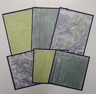 Premade SEWN Scrapbook Page Mat Set ALL OCCASION LOT 11 6 pieces