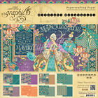 Graphic 45 Double Sided Paper Pad 8X8 24 Pkg Midnight Masquerade 8 Designs 3
