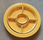 Vintage Yellow Fiesta Relish Tray With Inserts - Fiestaware