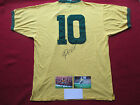 BRAZIL PELE AUTHENTIC HAND SIGNED RETRO 1970 WORLD CUP SHIRT JERSEY- PHOTO PROOF
