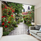 3D Peatl Street Blockout Photo Curtain Printing Curtains Drapes Fabric Window US