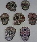 SUGAR SKULL 20 SALE 2 hole wood buttons 1 scrapbooking jewelry doll embellish