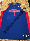 100% Authentic Adidas NBA Allen Iverson Pistons Away Jersey Stitched Size 60