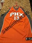 100% Authentic Adidas NBA Throwback Steve Nash Suns Away Jersey Stitched Size 60