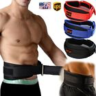 Weight Lifting Belt Neoprene Gym Fitness Workout Double Exercise Support Brace d