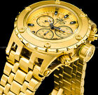 Invicta 52mm Men's Subaqua Swiss Ronda Z60 Chronograph Gold Plated SS 500M Watch