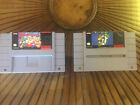 Super Punch Out and Super Mario World SNES