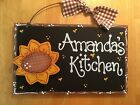 SUNFLOWER PERSONALIZED SIGN Decor Wood Crafts Home KITCHEN