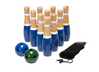 Set 8 Inch Wooden Lawn Bowling Outdoor Yard Play Game Kids New Bag Adults Indoor