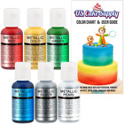 US Cake Supply by Chefmaster Airbrush Cake Pearlescent Shimmer Metallic Color Se
