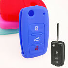 Xukey Silicone Key Cover 3 Button Shell For Vw Remote Fob Case Passat Jetta Cc