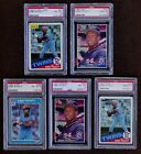1985 KIRBY PUCKETT ROOKIE LOT OPC, LEAF, FLEER, DONRUSS & TOPPS PSA 8 * NM MT *