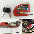 1x Motorcycle Anti-theft Lock Scooter Disc Lock Wheel Lock Red with Alarm 110dB