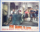 FIVE GRAVES TO CAIRO Lobby Card 1943 Franchot Tone Anne Baxter Billy Wilder