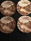 Olde English Countryside Set Of 4 Dessert Bread Plate 6.25