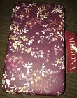 Thick MERONA Clutch wallet Berry Floral Faux Leather Hinged NWT
