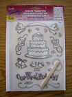 NEW Plaid Simply RUB ONS TRANSFERS Our Wedding Day CAKE RINGS CHAMPAGNE BELLS