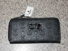 Disney Parks Boutique Collection Mickey Minnie Mouse Embossed Black Wallet NEW