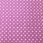 Fabric 1 Yard 43 Wide BTY Buttons Pink White 3135 Cotton Flannel