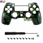 New Green Weed Cover Front Shell for Plastation PS4 Pro Slim Controller JDM-040