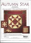 AUTUMN STAR WALL QUILT KIT ONE EASY PATCH 3 GREAT LAYOUT OPTIONS COMPLETE