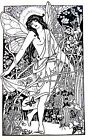 XXLarge  BEAUTIFUL FAIRY NYMPH in BUTTERFLY GARDEN  CLING MOUNTED Rubber Stamp