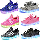 Kids Children 7 LED Luminous Light up Shoes Cool Casual Sportswear Sneakers USA