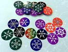 50 Precut 1 Christmas Holiday Snowflakes Bottle Cap Images Scrapbooking Jewelry