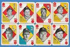 1951 Topps Red & Blue Back lot 16 Different Cards with HOF: Mize Irvin Kiner
