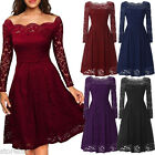 NEW Womens Prom Formal Wedding Bridesmaid Gown Evening Party Cocktail Lace Dress