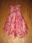 BCBG MAX AZRIA Pink and Red Floral Tulle Strapless Dress  6