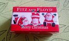 Fitz and Floyd~MERRY CHRISTMAS SANTA TUMBLERS~2006 New In Box~CUTE!~COLLECTIBLE!