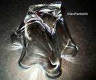 NEW in BOX STEUBEN glass LARGEST HANDKERCHIEF VASE ornament crystal rose heart