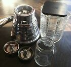 VINTAGE  Oster Osterizer BLENDER Chrome Beehive  Model 448 Deluxe w/ EXTRAS