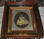 Antique Drawing Painting Child Nice Frame Victorian
