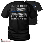 Thin Blue Line Hero Police Officer Support T Shirt