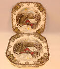 6 JOHNSON BROTHERS China FRIENDLY VILLAGE Made in England SQUARE Salad Plate