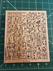 Stampin Up 2001 Scrapbook Stamp Egyptian Theme Mounted In Case