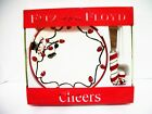 Fitz & Floyd Cheers Snowman Snack Plate Candy Cane Spreader w Orig Box