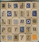 HERO ARTS Rubber Stamp ALPHABET MIXED Upper and Lowercase LETTERS Unique Set NEW