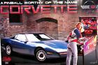 Corvette Pinball Machine Original Bally Poster From 1994 D