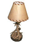Wildlife Lamps Log Cabin Light Deer Antler Lamp Rustic Accent Lodge Table GIFT