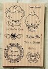 The Greeting Farm SWEET DEAL Cling Mount Rubber Stamp Set 2009 RETIRED DD508