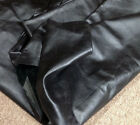 A61 Leather Cow Hide Cowhide Upholstery Craft Fabric Graphite Black